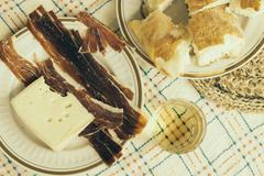 Dalmatia, Trogir, Starter in a restaurant Stock Photos