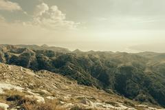 Croatia, Dalmatia, Biokovo, View from Sveti Jure Stock Photos
