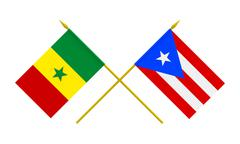 Stock Illustration of flags, puerto rico and senegal
