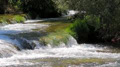 MREZ 27 Wonderful fresh water rapids waterfalls river flowing 2 Stock Footage