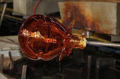 Glass art manufacturing Stock Photos