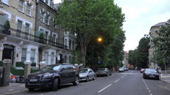 Exclusive neighborhood residential area in London - stock footage