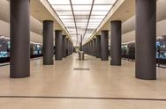 Stock Photo of Germany, Berlin, modern architecture of  subway station Brandenburger Tor