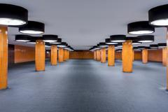Germany, Berlin, unfinished subway station at the international congress centrum - stock photo