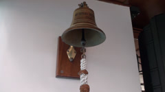 Bell of old sailing ship Stock Footage