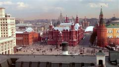 Moscow-Red Square overview Stock Footage