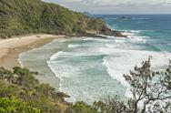 Stock Photo of Australia, New South Wales, Byron Bay, Broken Head nature reserve, view over bay