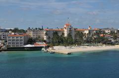 Nassau beach in bahamas. Stock Photos