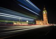 Stock Photo of UK, London, Big Ben and Houses of Parliament, long time exposure