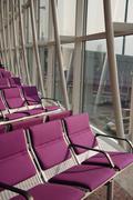 Violet air port seat Stock Photos