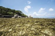 Stock Photo of Indonesia, Riau Islands, Bintan, Nikoi Island, Beach with granite rocks an coral