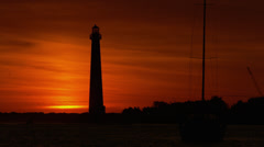 Lighthouse Sunrise 4k Stock Footage