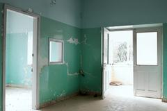 Interior on an abandoned building Stock Photos
