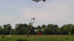 Supporting D-Day Anniversary parachuting from C-130 Hercules Stock Footage