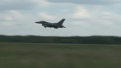 F-16 fighting falcons jet fighters Taking Off Stock Footage