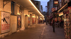 London Theatre District between Leicester Square and Covent Garden - stock footage