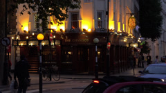 Typical English pub in London Stock Footage
