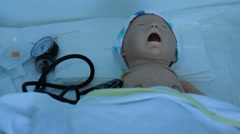 A virtual medical trainers, simulators, phantoms, mannequins and robots Stock Footage