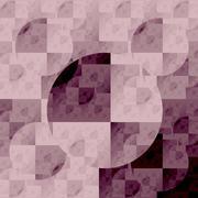 symmetrical fractal, brown light, circle digital line - stock illustration