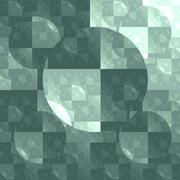 symmetrical fractal, green light, circle digital line - stock illustration