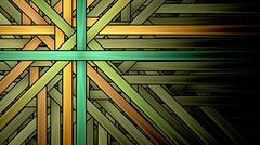 symmetrical fractal, gold light, circle digital line - stock illustration