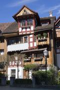 Stock Photo of Switzerland, Thurgau, Arbon, Old town, Half-timbered houses
