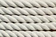 Stock Photo of white rough rope texture