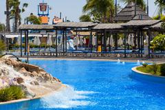CYPRUS, LIMASSOL - 14 MAY 2012: View on waterpark - stock photo