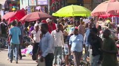 busy street in dar es salaam - stock footage