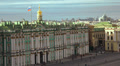 Petersburg. View from the roof. The Hermitage. 4K. Footage