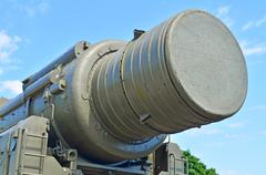 Military tank panzer rocket track - stock photo