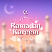 Ramadan Kareem (Generous Ramadan) background Stock Illustration
