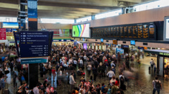 Time-lapse of London Euston railway station Stock Footage