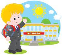 Schoolboy Stock Illustration