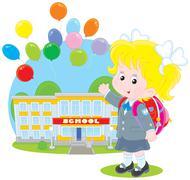 Schoolgirl Stock Illustration