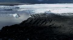 Aerial view Knik Glacier,  Alaska, USA - stock footage