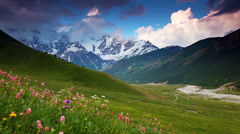 Upper Svaneti, Georgia, Europe. Caucasus mountains. Stock Footage