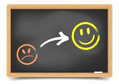 Stock Illustration of satisfaction smilies