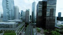 Business buildings. city. bank banking. skyline. real estate. landmarks Stock Footage