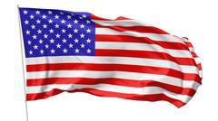 flag of united states on flagpole - stock illustration