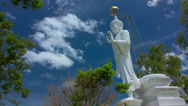 Stock Video Footage of HD Time Lapse White Buddha tilt up, Chiang Mai, Thailand