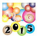 Stock Illustration of happy new year 2015 colorful ball festival