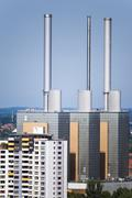 Thermal power station in Hannover Stock Photos