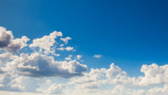 Stock Video Footage of blue sky with white clouds
