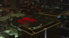 Toyota Center Houston at Night Stock Footage