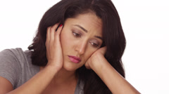 Sad Mexican woman - stock footage