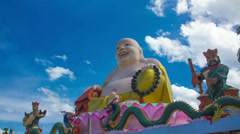 HD Time Lapse Colorful Buddha image zoom in Stock Footage