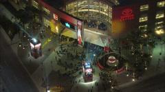 Houston Toyota Center Night Stock Footage