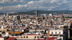 Types of Barcelona aerial view. Stock Footage