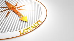 Loyalty on White with Golden Compass. Stock Illustration